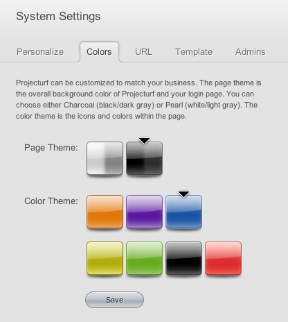 Projecturf color themes