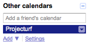 Google Calendar Syncing screen