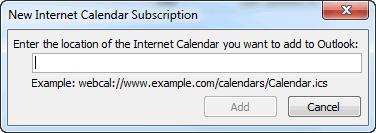 New Internet Calendar Subscription Box